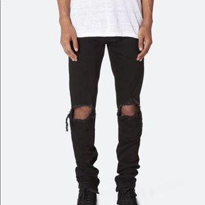 MNML M1 Denim Black Distressed Jeans Size 30